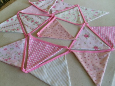 Pink and Green Bunting